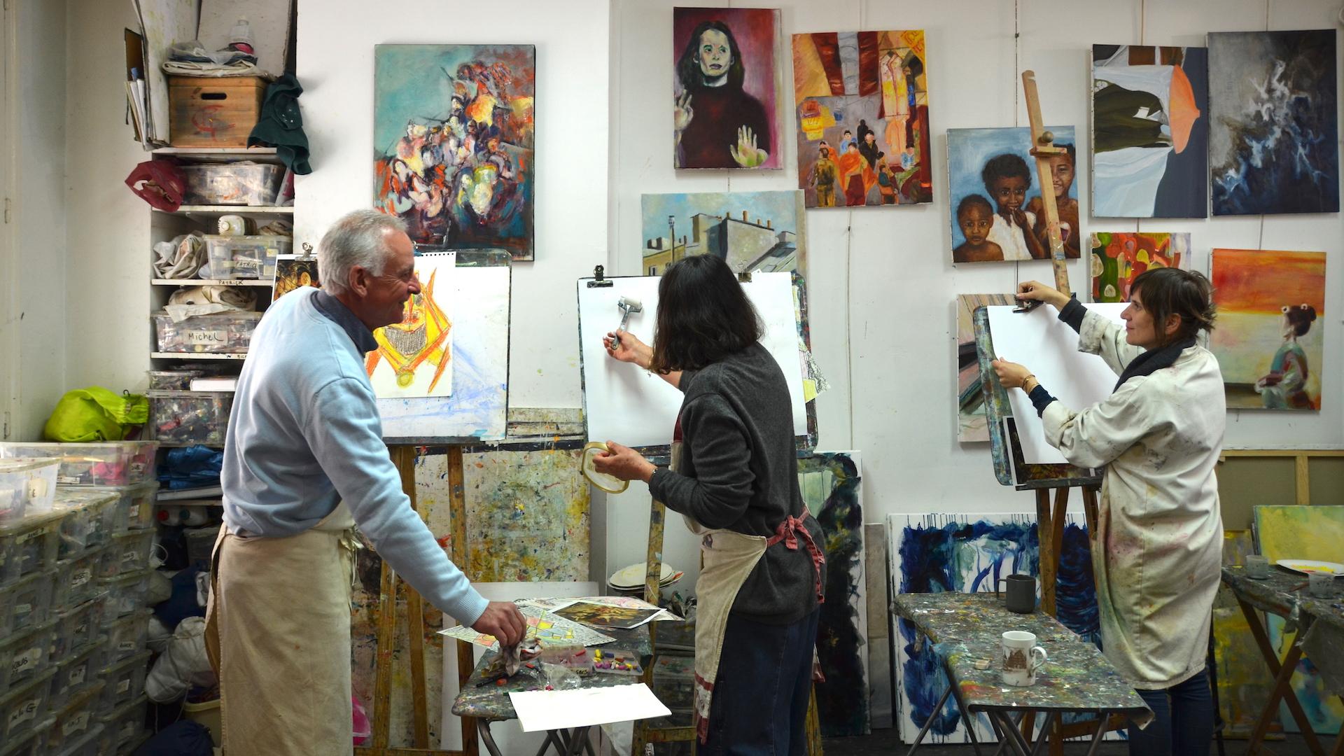 Stages de peinture Atelier Oh les beaux jours Paris