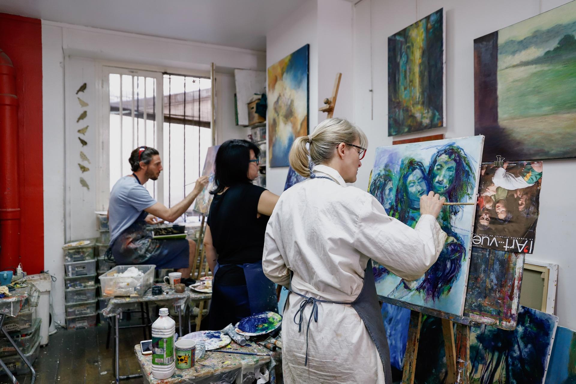Cours de peinture adultes Atelier Oh les beaux jours Paris